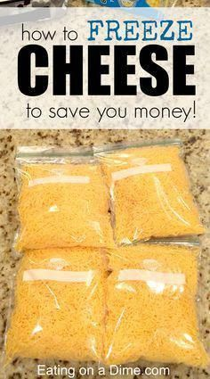 Freezing Cheese. Cheese freezes great and freezing cheese is an easy way to save money. I stock up on it when it is cheap and freeze it. Here is a DIY tutorial on how you can freeze cheese! - April 27 2019 at 12:42PM