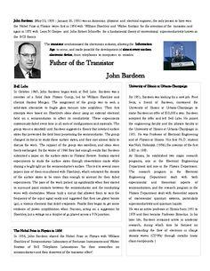 Flyer: John Bardeen