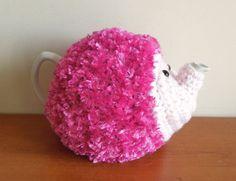 Pink hedgehog tea cosy fits standard 40 fl by CraftyCornishMaids