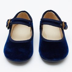 Girls velvet Mary Jane shoes - blue - SHOP BY PRODUCT - BABY - online boutique shop for casual and formalwear