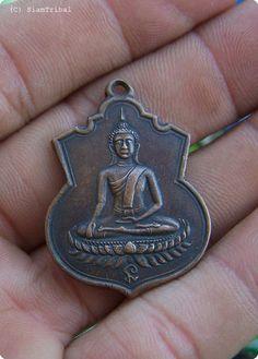 Power Spirit ethnic buddha art holy amulet coin pendants aubacha muen Yrs 1934