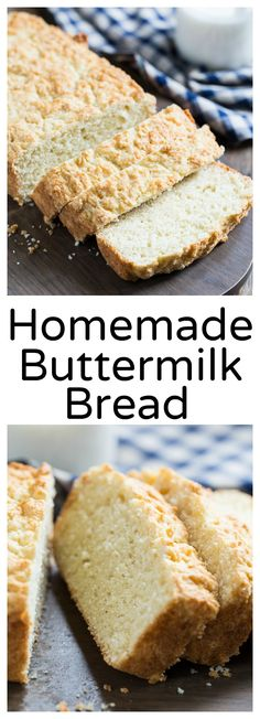 Homemade Buttermilk Bread- a super easy quick bread. No kneading and no yeast.