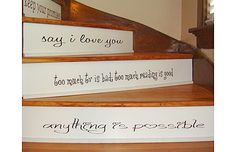 stairs with words of wisdom