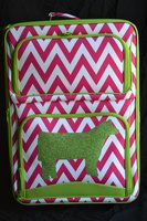 Suitcases available in Zebra, Demask, Camo, Chevron, Polka Dot, and Aztec Prints. We can put a steer, heifer, lamb, goat, chicken, horse, pig, or FFA on the suitcases and in the following colors: Pink Glitter, Green Glitter, Royal Blue Glitter, Turquoise Glitter, Aqua Glitter, Purple Glitter, Gold Glitter, Silver Glitter, Iridescent Glitter, Black Glitter, and Orange Felt. Cajun Bling Livestock Luggage