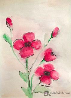 FLORES DISUELTAS 3 #flores, #acuarela, #arte