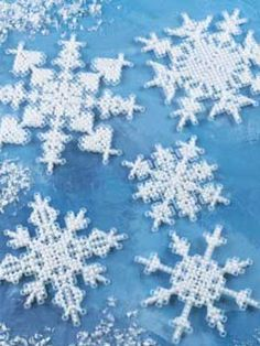 Plastic Canvas - Decorations & Knickknacks - Snowflakes