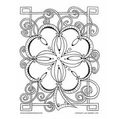 Celtic Clover Mandala coloring page. Look at all those fun curling tendrils just waiting for you to color them!! The spaces in the clover make perfect spots for creating gems. Have fun!