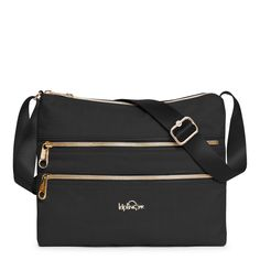 Our best-selling Alvar Crossbody Bag has a brand-new style agenda! Upgraded with a fresh new fabric and outfitted with stunning gold zippers and patent details, this little black handbag will be your go-to for years to come. Designed to go from office hours to after hours, this terrific crossbody bag offers a look that is both functional and fashion forward. Deceptively practical with two zipped main compartments and extra zipped pockets on the front, this on-the-go style is great for…