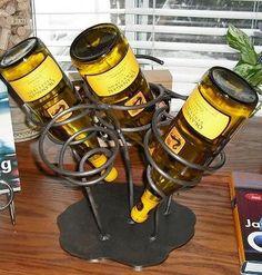 Unusual wine bottle holder