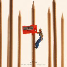""". 7.17 sun """"Birdhouse"""" . 「こんなところに居たら命とりですよ」 . . #鉛筆削り #巣箱 #PencilSharpener #Birdhouse ."""