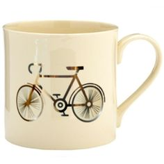 MAIDEN Bicycle Mug ($24) ❤ liked on Polyvore featuring home, kitchen & dining, drinkware and bicycle mug