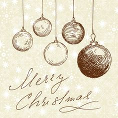 free Vintage Christmas Card | Merry Christmas calligraphic - Google Search