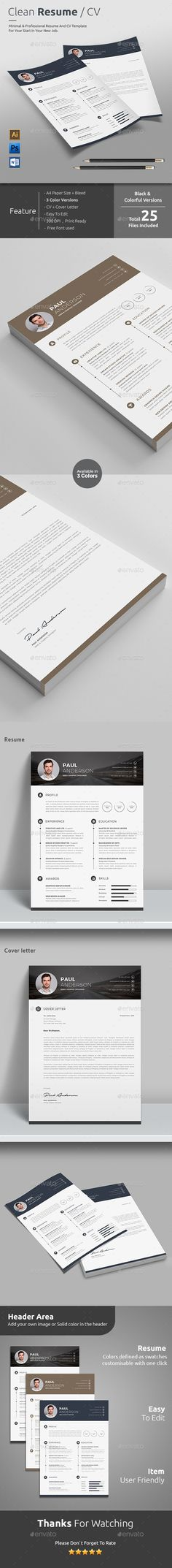 Resume Cv template, Resume cv and Psd templates - resume download in word