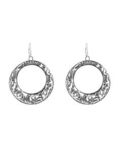 Bronzed By Barse Silver Overlay Forward Facing Hoop Earrings price reduction  Bronzed By Barse price reduction