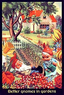 Better Gnomes In Gardens, from the Ken Brown Collection, postcard.: