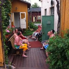 "See 78 photos and 11 tips from 408 visitors to Rajaportin Sauna. ""The oldest remaining public sauna. Sauna Steam Room, Baths Interior, Finnish Sauna, Big Lake, Old Town, Four Square, Deck, Patio, Places"