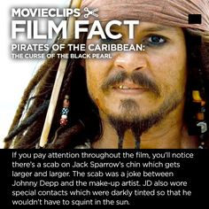 Pirates of the Caribbean #FilmFact | Jack Sparrow's Scab