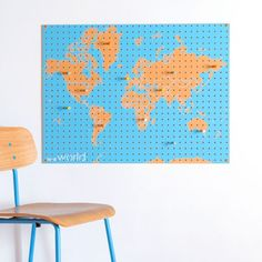 Block+World+Map+PegBoard+-+The+stylish+Block+World+Map+PegBoard+is+the+perfect+home+accessory+for+globe+trotters!  Use+this+designer+pegboard+to+display+your+travel+mementos,+and+also+use+the+coloured+pegs+to+map+where+you+have+been+and+where+you+want+to+go+next!+Perfect+for+tickets,+photos+and+other+travelling+knick-knacks,+this+modern+map+design+has+space+to+accommodate+all+your+holiday+souvenirs.   This+world+map+memo+board+will+give+your+room+a+designer+edge,+and+makes+a+great+alternati