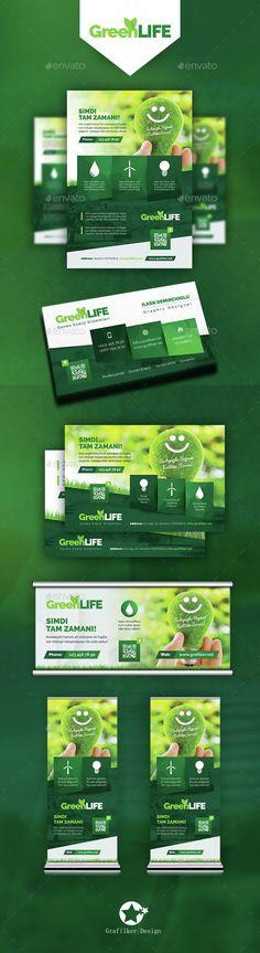 Green Energy Bundle Template PSD, InDesign INDD. Download here: http://graphicriver.net/item/green-energy-bundle-templates/15288457?ref=ksioks