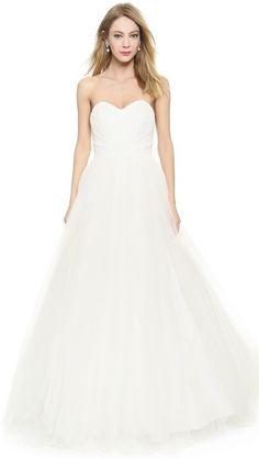 Theia Olivia Strapless Ball Gown