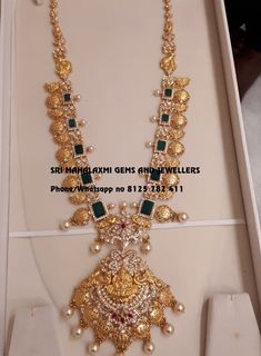 Gold Jewelry For Brides Product Gold Temple Jewellery, Gold Jewellery Design, Gold Jewelry, Jewelry Shop, Ruby Necklace Designs, Bridal Jewelry, Emeralds, Pendant Necklace, Bride Entry