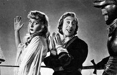 """Isa Barzizza and Macario (Erminio Macario) in Mario Mattoli's comedy """"Adamo ed Eva"""" (English title: """"Adam and Eve"""", 1949)."""