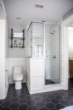 Most Popular Small Bathroom Design Ideas for 2019 - Small Style.Most Popular Small Bathroom Design Ideas for 2019 - Small Style.Most Popular Small Bathroom Design Ideas for 2019 - Small Style. Bathroom Design Small, Modern Bathroom, Silver Bathroom, Small Bathroom Showers, Small Master Bathroom Ideas, Bathroom Accents, Brown Bathroom, Modern Shower, Black And White Master Bathroom