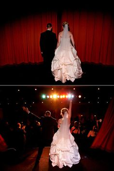 Must Have Wedding Photos - Bride and Groom Wedding Pictures Movie Theater Wedding, Wedding Movies, Wedding Couples, Wedding Pictures, Unique Wedding Venues, Wedding Events, Wedding Ideas, Wedding Bells, Reception Entrance