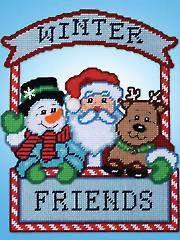 Plastic Canvas - Winter Friends Plastic Canvas Kit - #837427