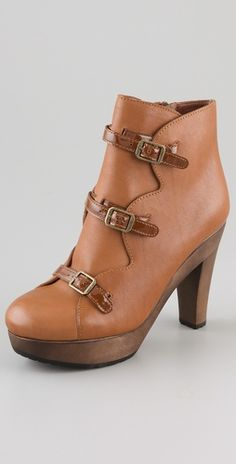 See by Chloe |3 Buckle Booties but in black. - ika