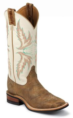 Give your legs comparative warmth and stylish look with cowgirl boots justin bent rail ivory puma cowgirl boots - square toe, tan, hi-res CJKEDDE Cute Cowgirl Boots, Womens Cowgirl Boots, Cute Boots, Western Boots, Western Wear, Western Cowboy, Western Style, Fly Boots, Cowgirl Outfits