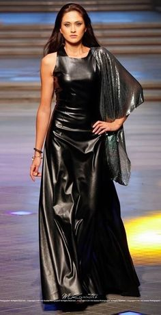 Miasa Crafts Genuine Leather Sleeveless Party Evening Gown Made To Order Satin Dresses, Sexy Dresses, Tight Dresses, Rubber Dress, Elegantes Outfit, Latex Dress, Leather Dresses, Leather Outfits, Latex Fashion