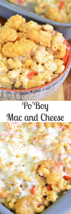 Po'Boy Mac and Cheese. You can't imagine a more comforting dish than this…