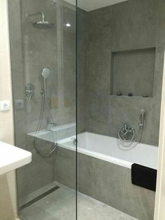 41 Easy Shower Design Ideas For Small Bathroom layout 41 Easy Shower Design Ideas For Small Bathroom Bathroom With Shower And Bath, Shower Tub, Bathroom Showers, Walk In Shower Bath, Wet Room With Bath, Corner Bath Shower, Bathtub Shower Combo, Shower Rooms, Shower Enclosure