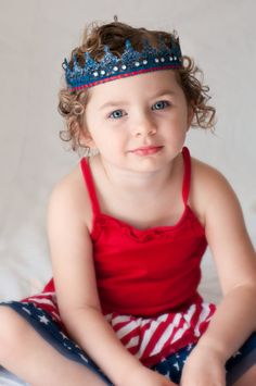 4th of July, Memorial Day, Red White and Blue, Patriotic Lace Crown Halo Headband and Photography Prop - Newborn, Baby, Toddler Lace Crown on Etsy, $14.95