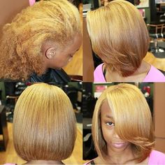 Pressed Natural Hair, Dyed Natural Hair, Dyed Hair, Natural Hair Styles, Medium Short Hair, Medium Hair Styles, Short Hair Styles, Sweet Hairstyles, Dope Hairstyles
