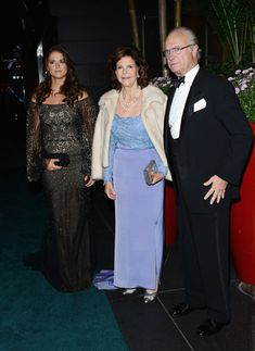 King Carl Gustaf with his wife Queen Silvia and daughter Princess Madeleine