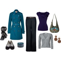 Blue for work, created by lonelyspiral.polyvore.com