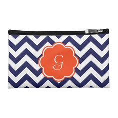monogrammed cosmetic bags in vibrant colors and beautiful designs