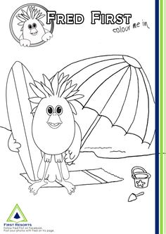 1000 images about fred first on pinterest knysna the for Surf s up coloring pages