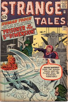 Strange Tales The Human Torch and the Fifth Dimension. Old Comic Books, Marvel Comic Books, Comic Book Covers, Comic Book Characters, Comic Book Heroes, Silver Age Comics, Old Comics, Vintage Comics, Groot Comics