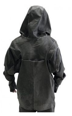 Arnold Putra limited edition goat leather hooded jacket