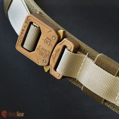 Ranger Belt, Desert Sand on Coyote Brown, Bronze Buckle