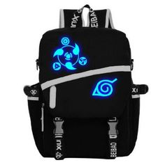 Anime Naruto Sharingan Luminous Satchel Backpack //Price: $40.99 & FREE Shipping //