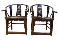 Chairs barrel asian 28x21x39 ask $2979wg  ...  Hand-Carved Chinese Chairs, Pair