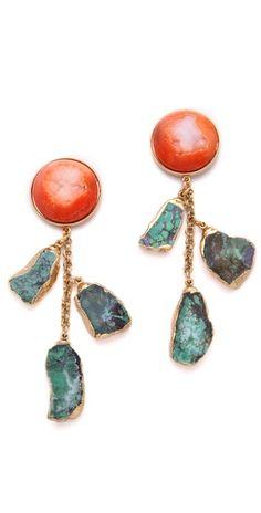 Dara Ettinger  Agate Earrings  Style #:DETTI3004
