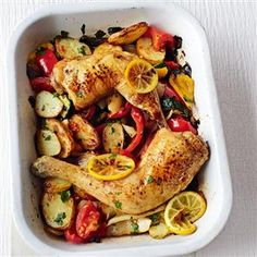 Lemon chicken tray bake Recipe | delicious. Magazine free recipes
