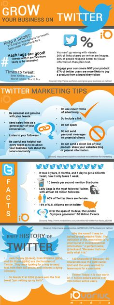 SOCIAL MEDIA - #Twitter #Marketing: Facts And Tips - Infographic.