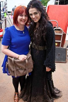 Katie with a fan