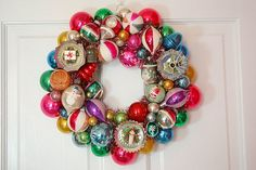 Look at all of the recycled materials that was used in making this wreath!  Now, this wreath should really inspire you, in creating something special!